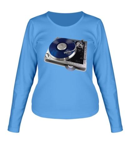 Женский лонгслив Music