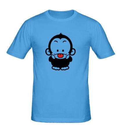 Мужская футболка Веселая обезьянка