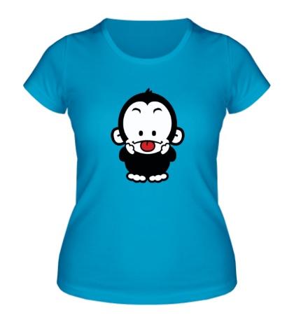 Женская футболка Веселая обезьянка
