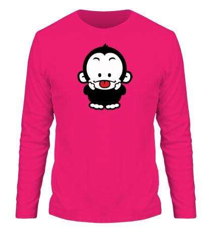 Мужской лонгслив Веселая обезьянка