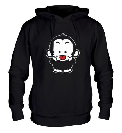 Толстовка с капюшоном Веселая обезьянка