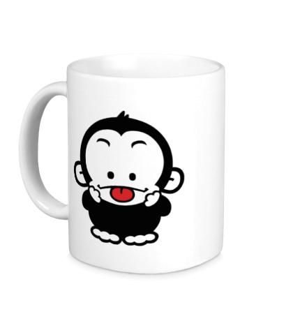 Керамическая кружка Веселая обезьянка