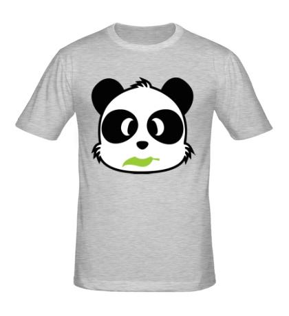 Мужская футболка Панда с листиком