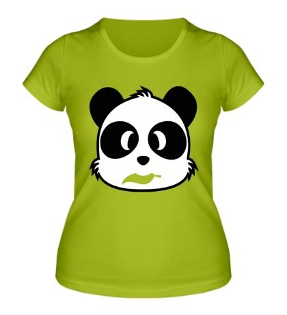 Женская футболка Панда с листиком