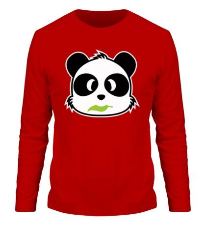 Мужской лонгслив Панда с листиком