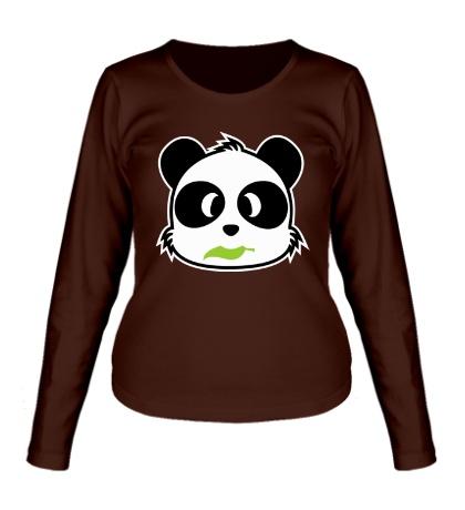 Женский лонгслив Панда с листиком