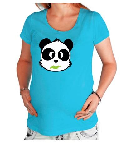 Футболка для беременной Панда с листиком