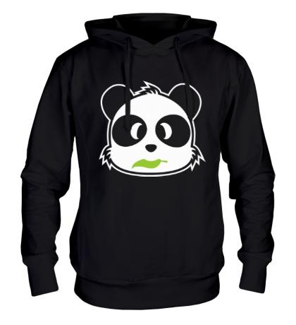 Толстовка с капюшоном Панда с листиком