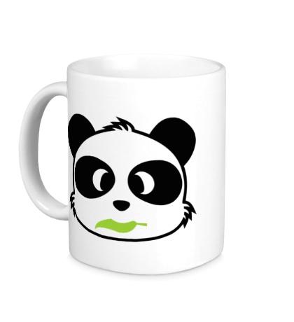Керамическая кружка Панда с листиком