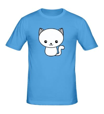 Мужская футболка Милый котенок