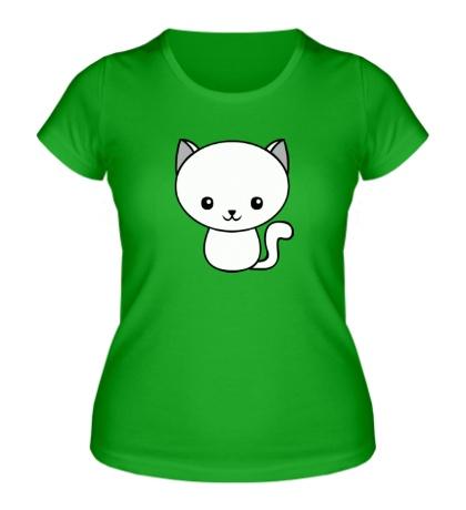 Женская футболка Милый котенок