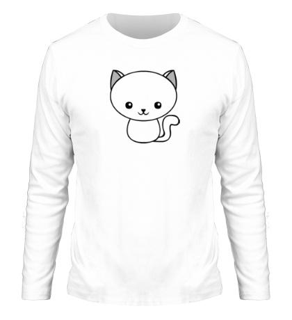 Мужской лонгслив Милый котенок