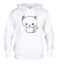 Толстовка с капюшоном Милый котенок