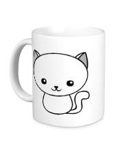 Керамическая кружка Милый котенок