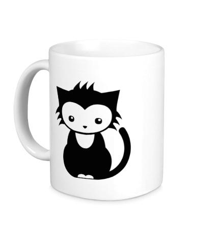 Керамическая кружка Сонный котенок