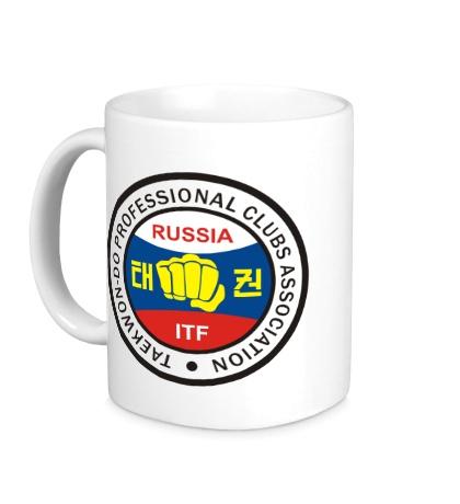 Керамическая кружка Taekwon-do Russia