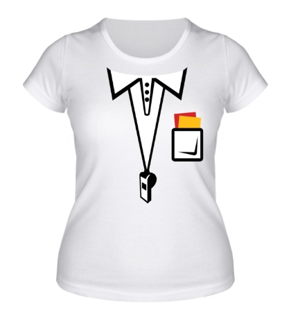 Женская футболка Футбольный арбитр