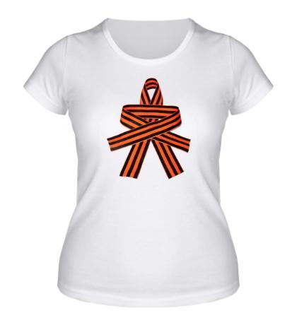 Женская футболка Георгиевский цветок
