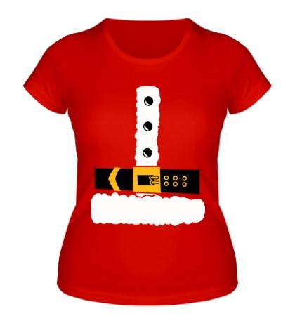 Женская футболка Шуба Деда Мороза