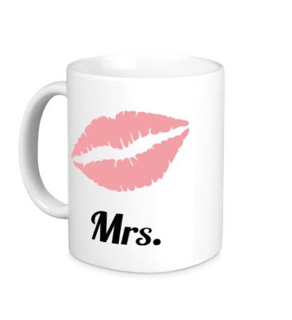 Керамическая кружка Миссис