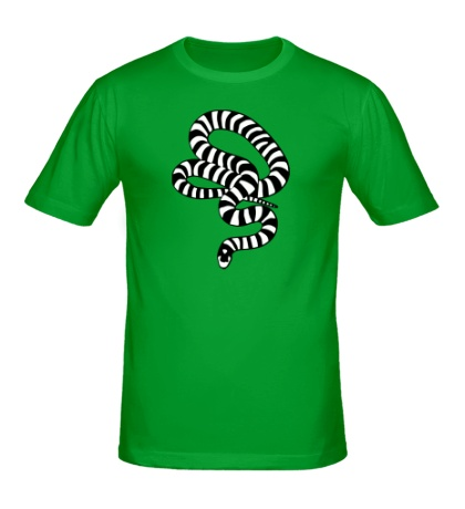 Мужская футболка Полосатая змея