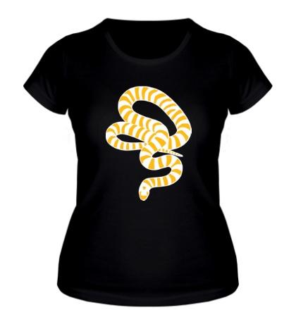 Женская футболка Полосатая змея