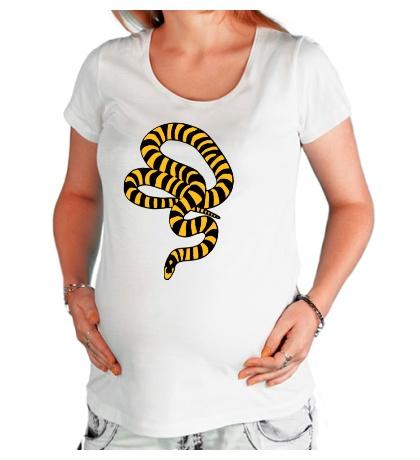 Футболка для беременной Полосатая змея
