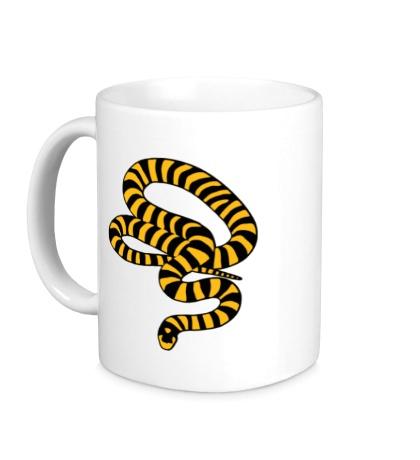 Керамическая кружка Полосатая змея