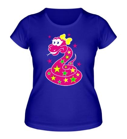 Женская футболка Яркая змея