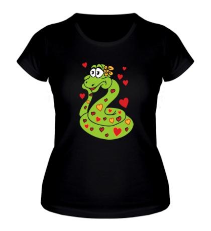 Женская футболка Влюбленная змея