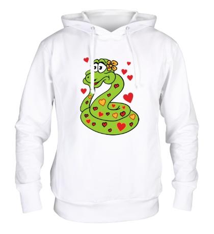 Толстовка с капюшоном Влюбленная змея