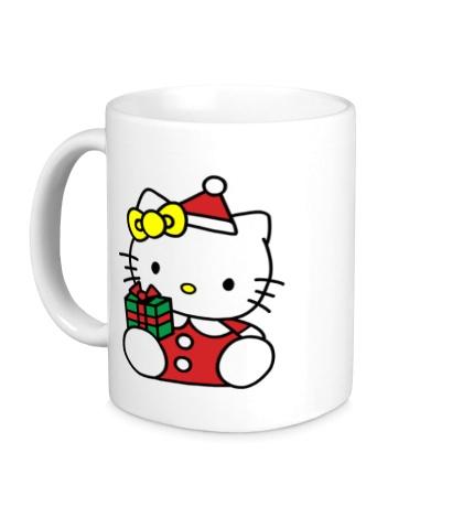 Керамическая кружка Hello Kitty с подарком