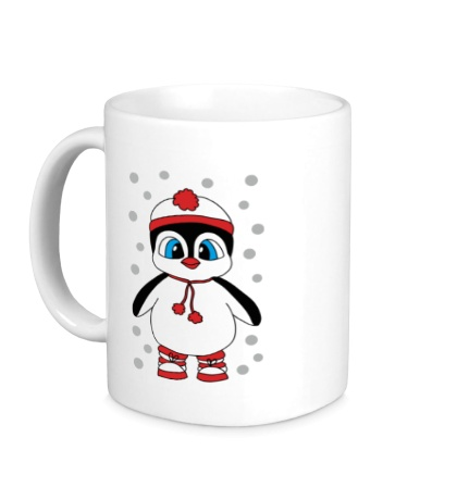 Керамическая кружка Новогодний пингвин