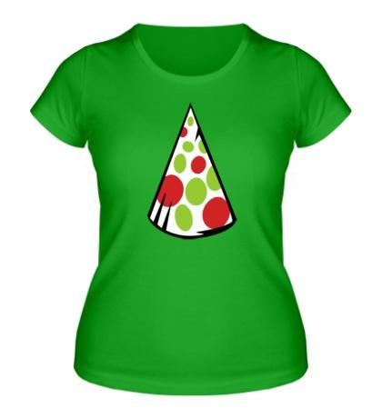 Женская футболка Праздничный колпак