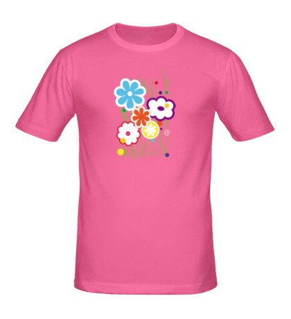 Мужская футболка «Цветы»