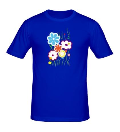 Мужская футболка Цветы