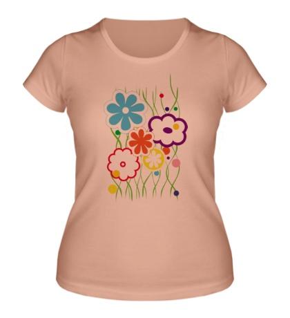Женская футболка Цветы