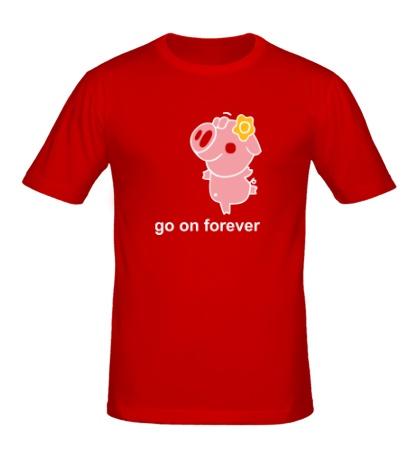 Мужская футболка Go on Forever
