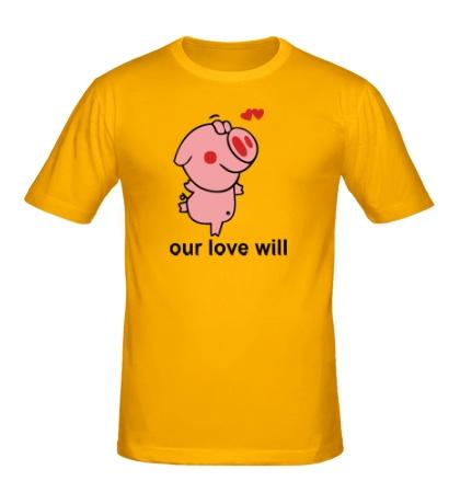 Мужская футболка Our love Will
