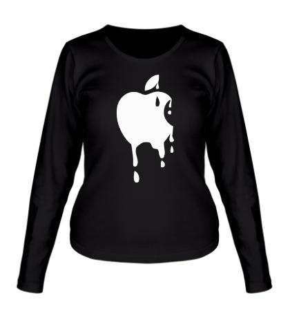 Женский лонгслив Стeкающий Apple