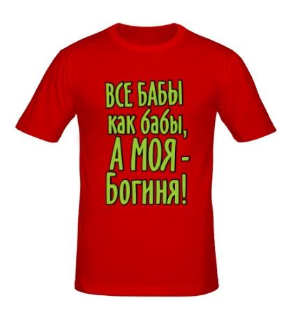 Мужская футболка «Все бабы как бабы, а моя богиня»