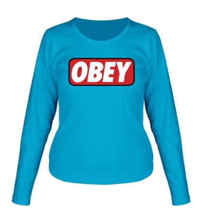 Женский лонгслив Obey Sign