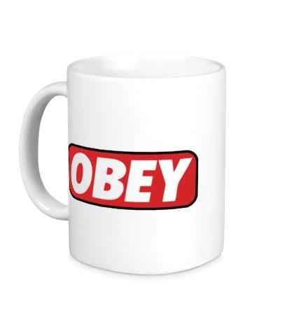 Керамическая кружка Obey Sign