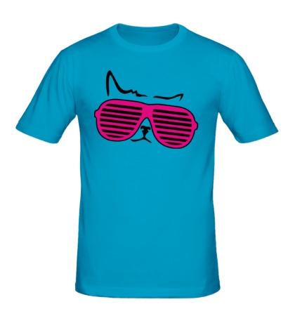 Мужская футболка Киса в очках