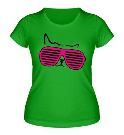 Женская футболка Киса в очках