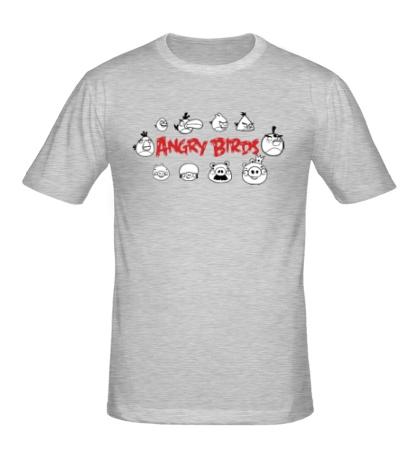 Мужская футболка Angry Birds Sketch