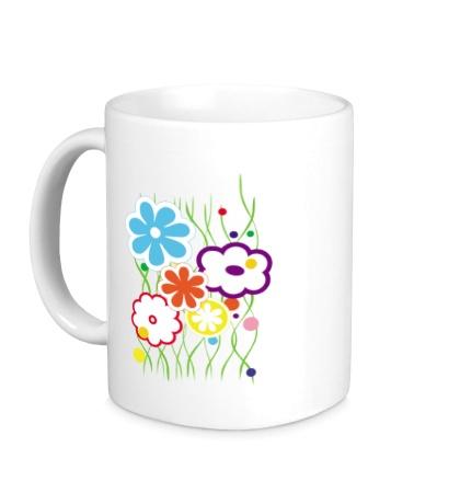 Керамическая кружка Цветы