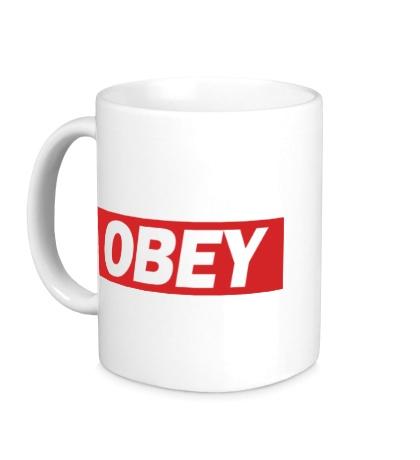 Керамическая кружка Obey