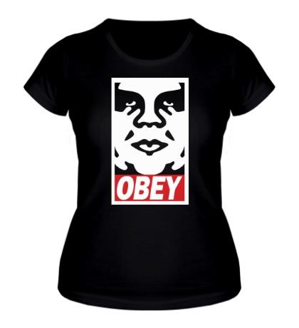 Женская футболка Obey the Giant