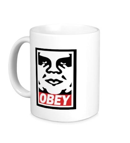 Керамическая кружка Obey the Giant